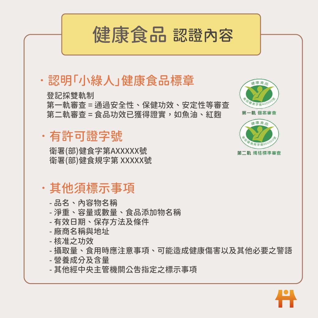 健康食品需標註事項